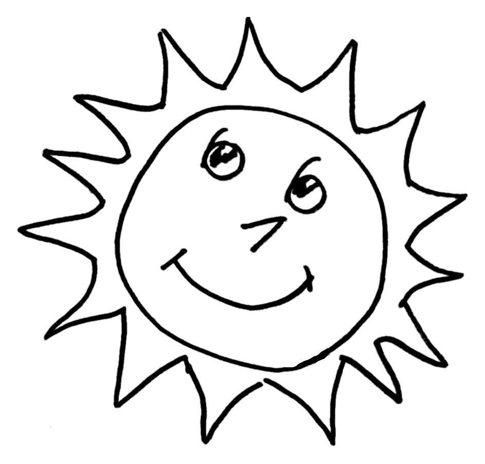 Soleil souriant à colorier – BRICOLOKID.COM